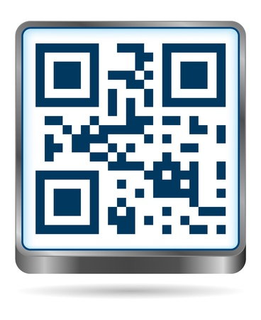 qr code icon in blue colors Vector