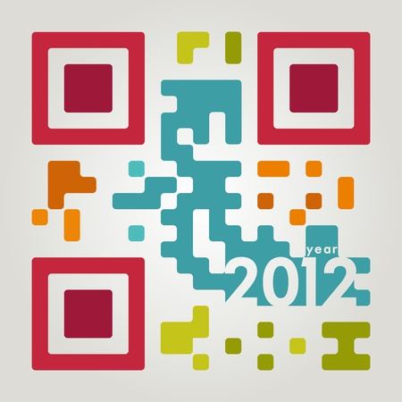 2012 code in cool colors Vector