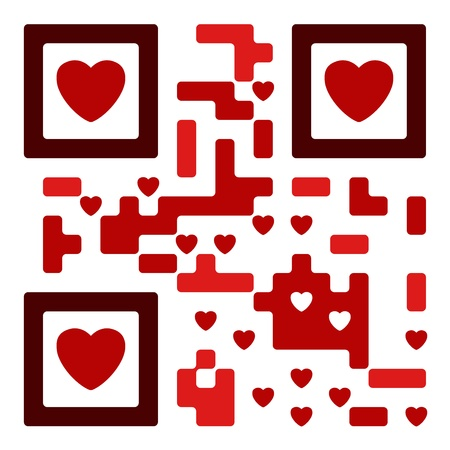love qro code fully functional Vector
