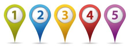 kleur locatienummer pinnen