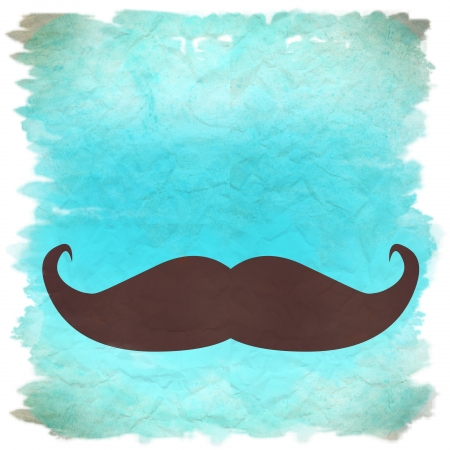 blue moustache retro background Stock Photo - 12385414