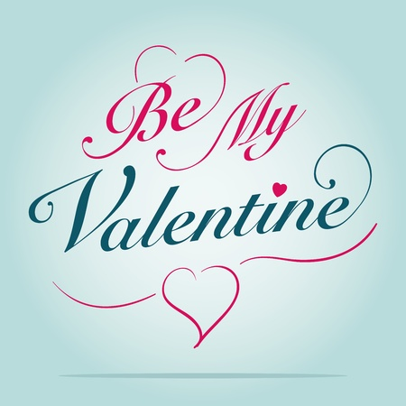 Be my valentine card Stock Vector - 12385422