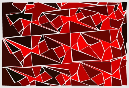 red stained glass texture Vector