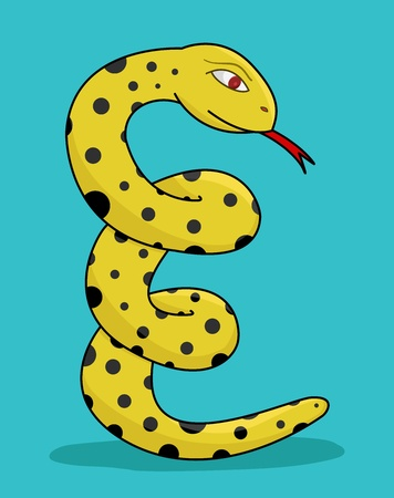 slither: evil yellow snake