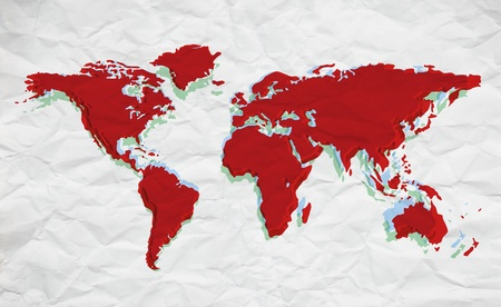 map in colors over paper photo