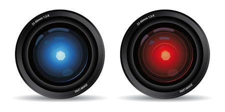 set of two camera lens Vector