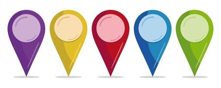 elhelyezkedés: sor színes csapok Illusztráció