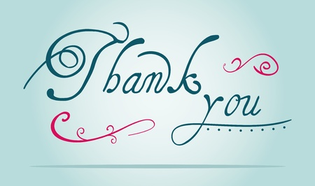 thank you text Stock Vector - 12385435