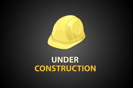 under construction site with helmet