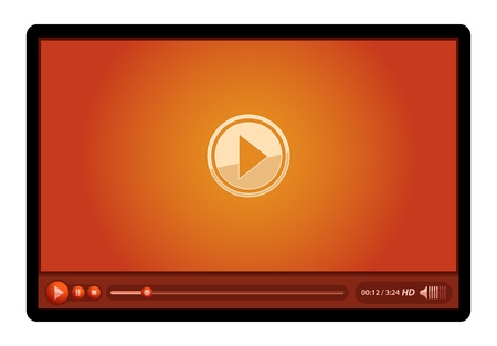 windows media video: red media video player