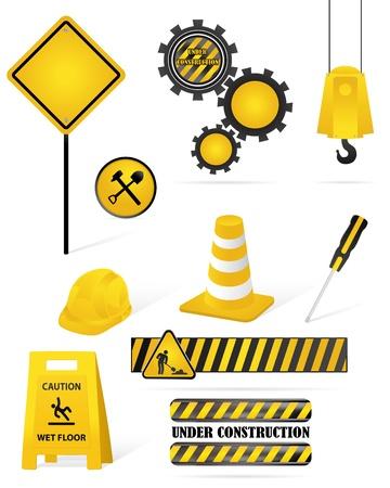 set of construction elements