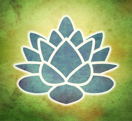 abstract flowers: lotus flower in grunge background