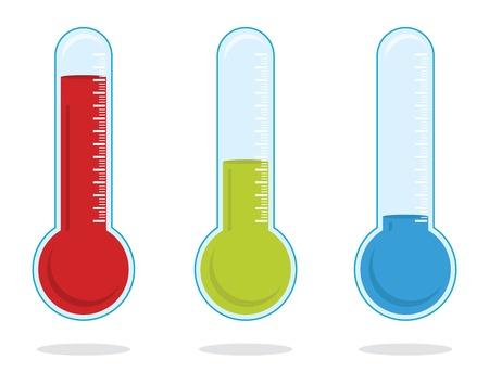 term�metro: Conjunto de tres term�metros de color