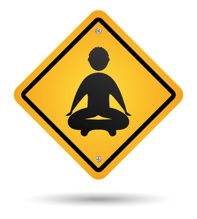 meditation road sign isolated