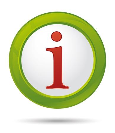 green info icon Stock Vector - 13540115
