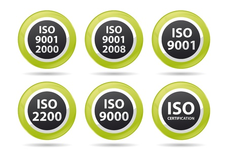 iso icnos for different certifications Vector