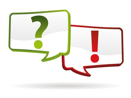 question and answer signs in 3d effect Stock Vector - 14027957