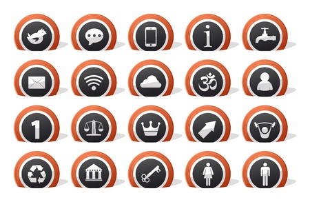 lot of 20 icons for all porpouse Stock Vector - 14174402