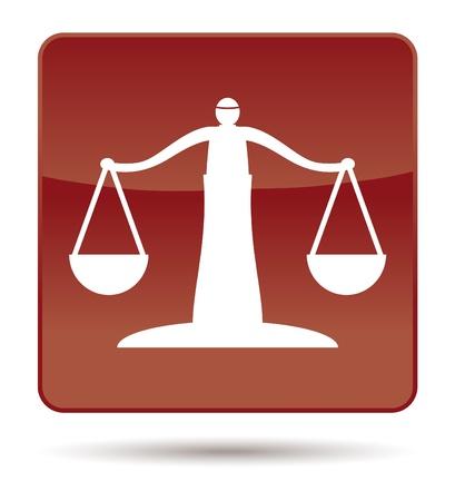 justice scales: Brown icono de la balanza de la Justicia