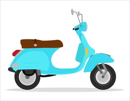 scooter de la vendimia verde, material, fresco Ilustración de vector