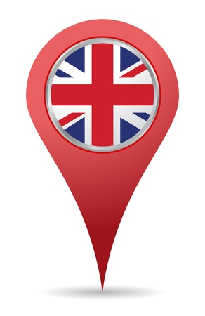 United kingdom location map pin, UK Vector