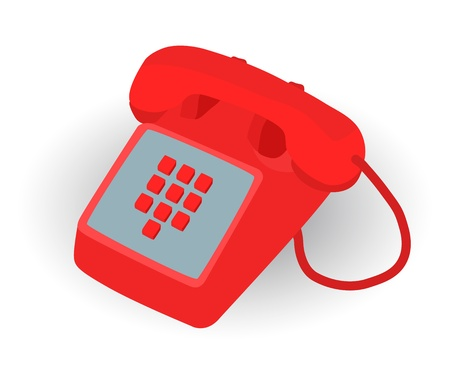 red phone for emergency call to 911 Vector