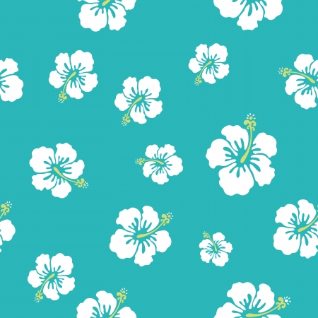 hawaii flowers texture, make your pattern Vector