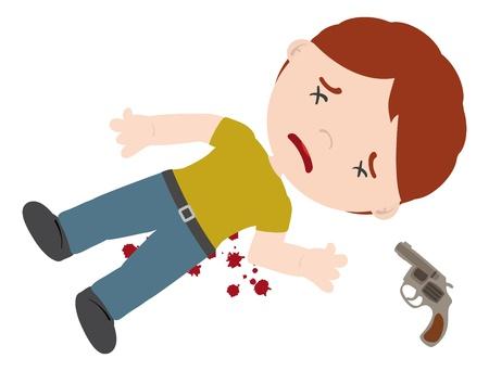 homicide of men, crime scene Stock Vector - 15197669