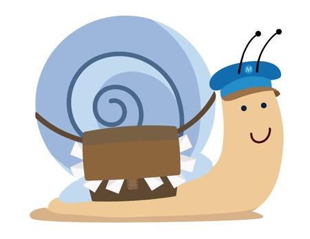 cute kawaii snail mail Vector