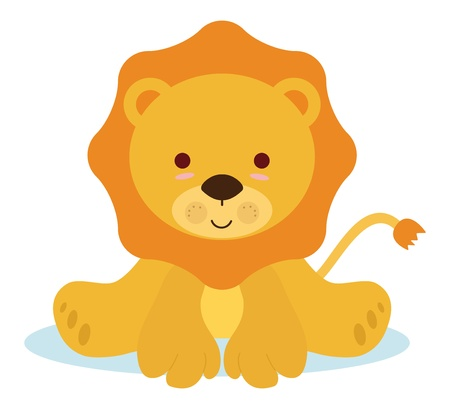 cartoon  lion: cute baby lion for newborns events Illustration