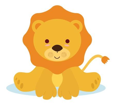 lindo bebé león para eventos recién nacidos Ilustración de vector