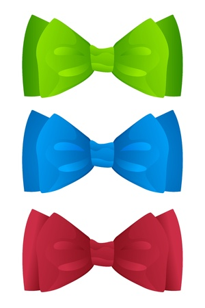 set of color bow ties Illustration