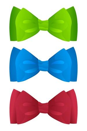 set of color bow ties Stock Illustratie