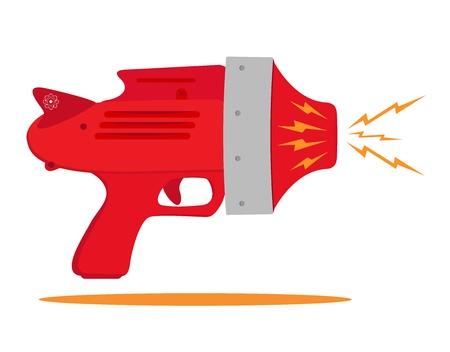 Retro space gun mit Strahlen Standard-Bild - 15917289