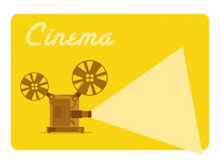 vintage movie projector, old cinema  イラスト・ベクター素材