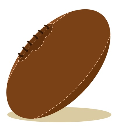 sports league: brown rugby ball with shadow