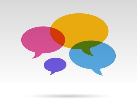 kleur transparant tekstballonnen in gesprek