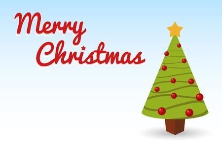 christmas tree post card for holidays Stock Vector - 16603179