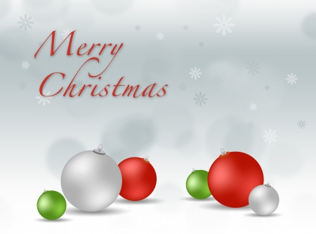 xmas background with color balls Stock Photo - 16853993