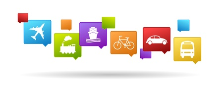 color set of transport icons Vector