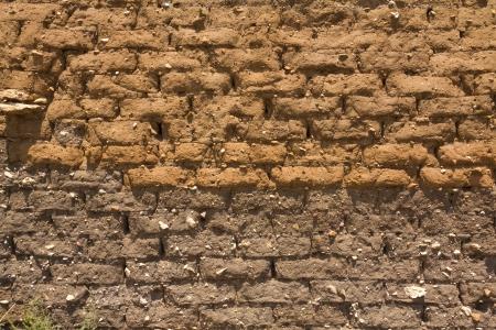 mud wall: old and dirty adobe wall