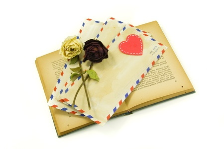 book with letters of love