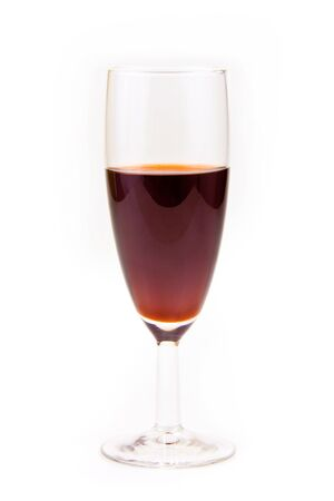red wine in glass, isaolated photo