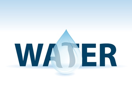 water text and drop, care the world