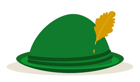 german culture: green oktoberfest hat traditional holidays Illustration