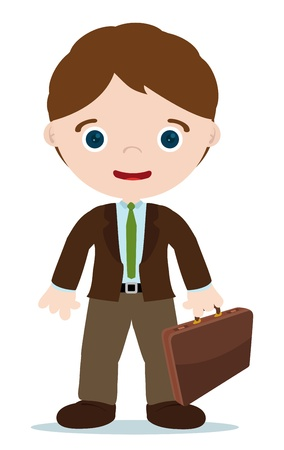 accountant men with briefcase in the hand Vector