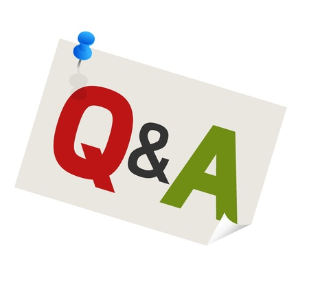 answer: question answer paper with blue pushpin
