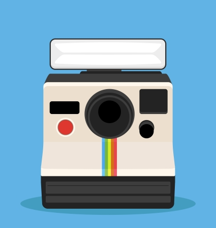 Sofortbild-Kamera Retro-Stil Standard-Bild - 21325793