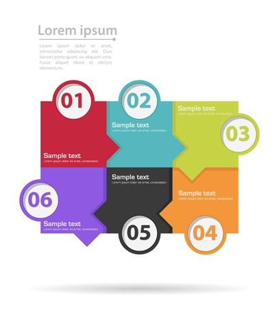 progress steps: infographics tabs with number steps