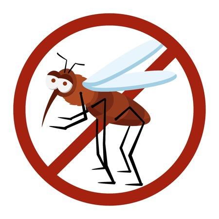 danger sign mosquito of dengue